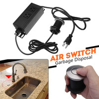 110V 32mm Home Garbage Disposal Air Switch Unit Assembly Push Button Sink Top Pressure Switch US Plug for Kitchen Shower Room