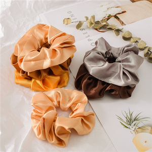 Image 4 - New 35 Pcs/Set Satin Hair Scrunchies Pack Women Elastic Hair Bands Girls Headwear Silky Ponytail Holder Solid Hair Accessories