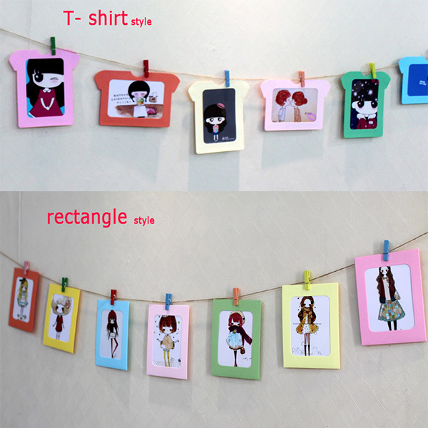 cute photo clip holder, bundle wall deco DIY paper clip photo frame ...