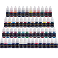 Solong Tattoo Tatuagem Tinta Conjunto Pigmento (8 ml) 54 Cores para Tattoo Machine Gun Kit TI2001-8-54