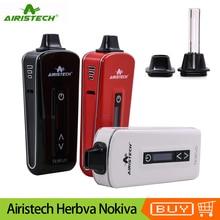 Original Airistech Herbva Nokiva Dry Herb Vaporizer Kit 2200mAh Battery Ceramic Chamber Heating Herbal Vape Pen Vaporizer