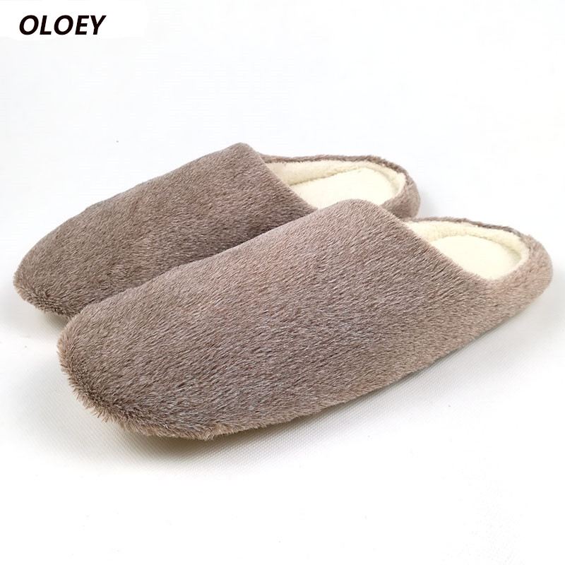 New Arrivals Fashion Soft Sole Autumn Winter Warm Home Cotton Plush Slippers Indoor Men Woman Floor Flat Boys Shoes Zapatos fongimic men women winter warm cotton leather slippers soft fur home shoes indoor flat floor shoes new couples plush footwear