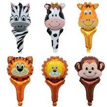 6pcs / lot mini animal head aluminum balloon set childrens holiday party decorative balloons high quality X-125