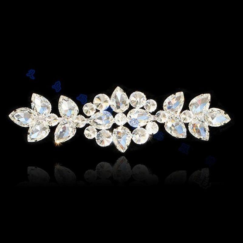 10 Pieces Bridal Belt Rhinestone Applique Embellishment Crystal Patch For Bling  Wedding Gown DIY Bridal Sash-in Rhinestones from Home   Garden on ... 48c23b05d1c9