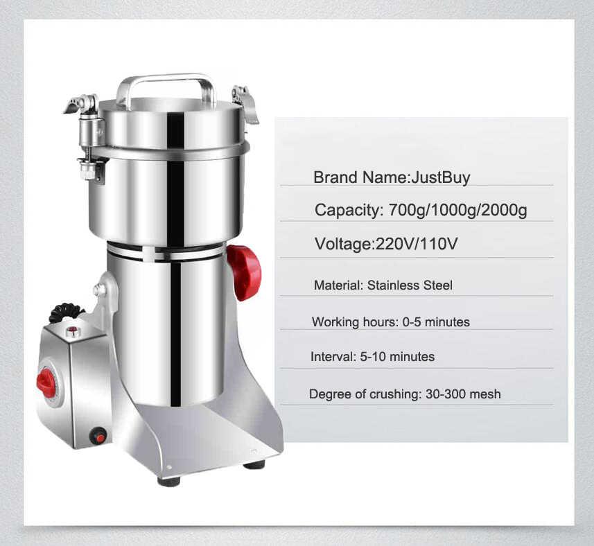 Moedor de cereais de grãos de café, máquina moedor de grãos e espinhas, medicina caseira, triturador de pó