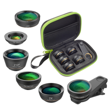 Wholesale 10 Pcs/Pack 6in1 Fish Eye Lens +Wide Angle+Macro+CPL+Star+Filter+ Tele