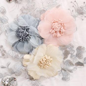 ALPHALMODA 3D Flower Applique Fashion Tshirt Slim Denim Pants Women Heavy-work Fine Quality Clothing for Summer Trendy Apparel 4