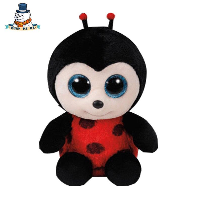 [Quanpapa] Новое 15 см хлопок Животные Плюшевые Игрушки Божья коровка кукла регулярное мягкие Животные Ty Beanie Боос плюшевые игрушки для ребенка