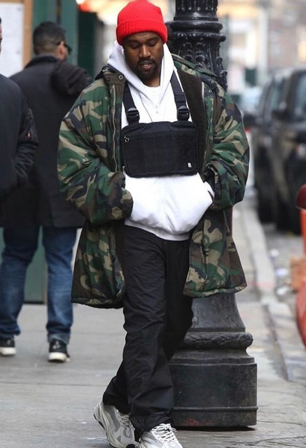Hip Hop Kanye West Street Ins Hot Style Chest Rig Military