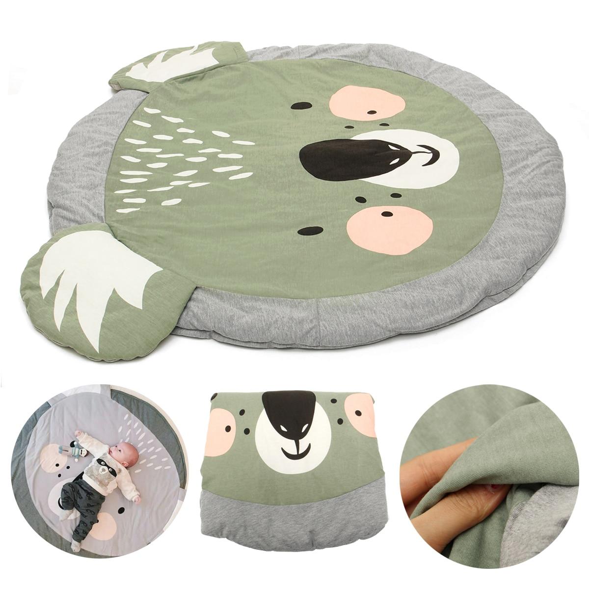 85 см Baby Игровой коврик круглый ковер Rugs коврик хлопок ползать ковер Одеяло пол ковер из/крытый мягкая детские подарки ...