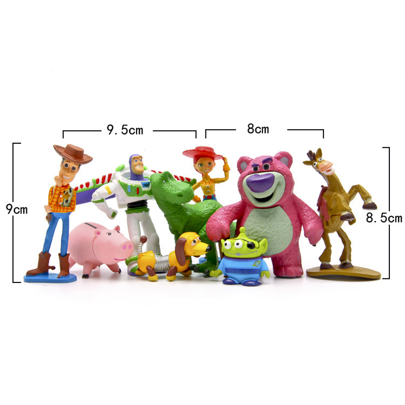 9 unids set Toy Story Buzz Lightyear Woody Jesse Green hombres figuras de  acción Cute PVC Action Figure Toys muñeca colección de juguetes modelo de  juguete ... 15a9666cb68