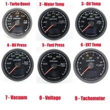RGB 64K цвета Гонки GReddi Калибр с режимом запуска турбо Boost температура воды Температура масла пресс вакуумный EGT топливный пресс напряжение