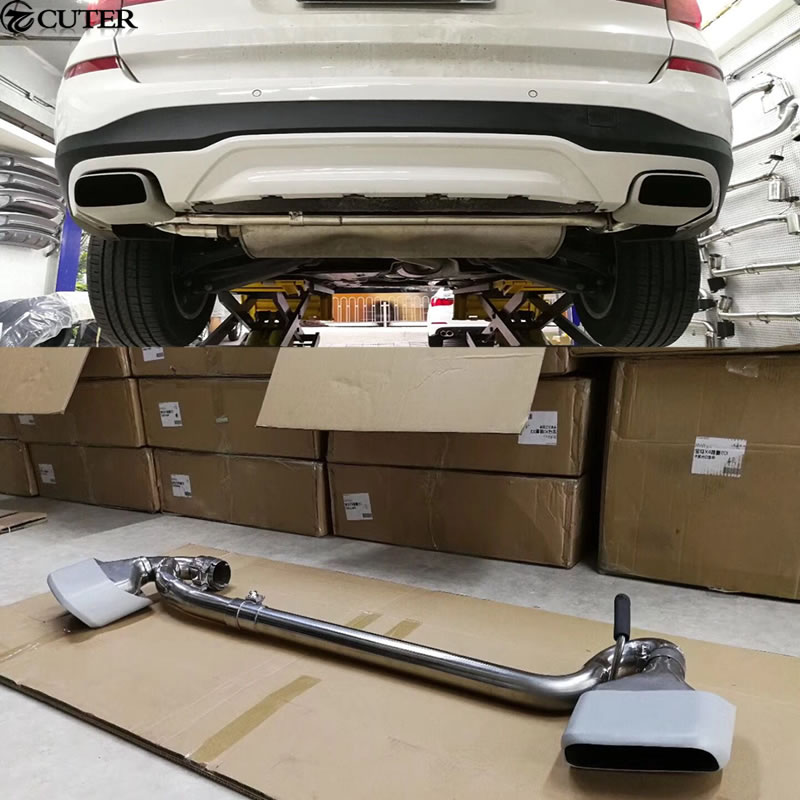 X3 X4 Car body kit rear bumper diffuser exhaust pipe Square tail throat for BMW X3 X4 14-16 diffuseur arrière carbone bmw x4 f26