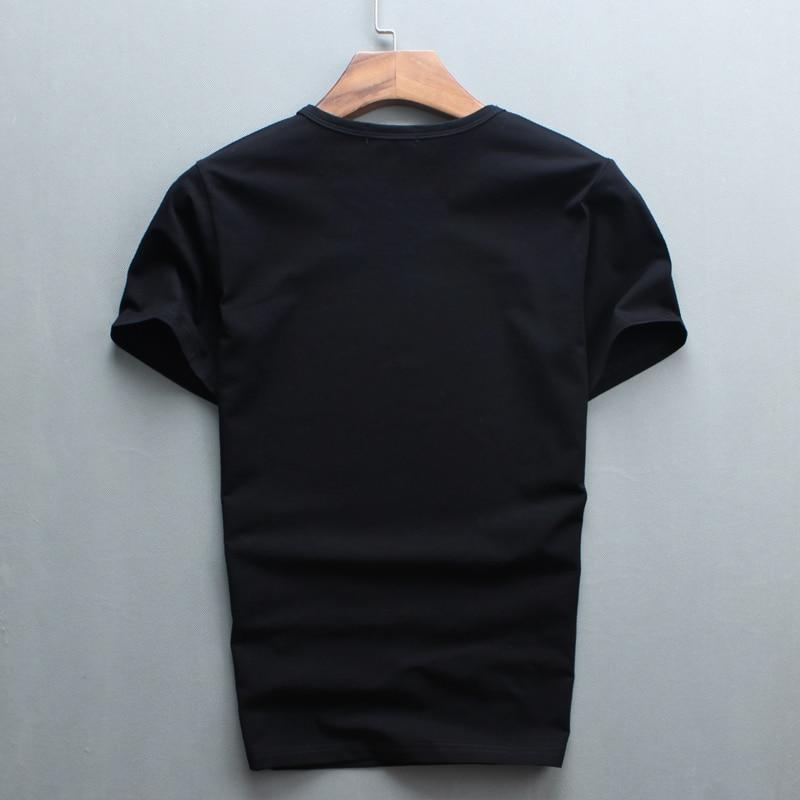 Partihandel Hot Sale Sale O-Neck Men Luxury Diamond Design Tshirt - Herrkläder - Foto 6