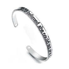 2018 Creative Cuff Bangle Bracelet Engraved she Believed She Could So Did Inspirational Jewelry Perfect Gift For Women