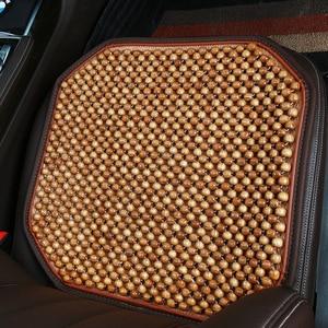 Image 5 - Tampas de Assento Assento de Carro Do Grânulo de Madeira Natural de Bordo de automóveis Esteira Do Assento Para Carro Escritório Almofada de Massagem Legal Respirável Ambiental