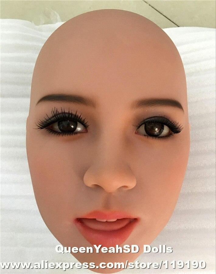 Tête de poupée d'amour réaliste de qualité supérieure, poupée de sexe pleine silicone, poupées de silicone de jouet de sexe têtes