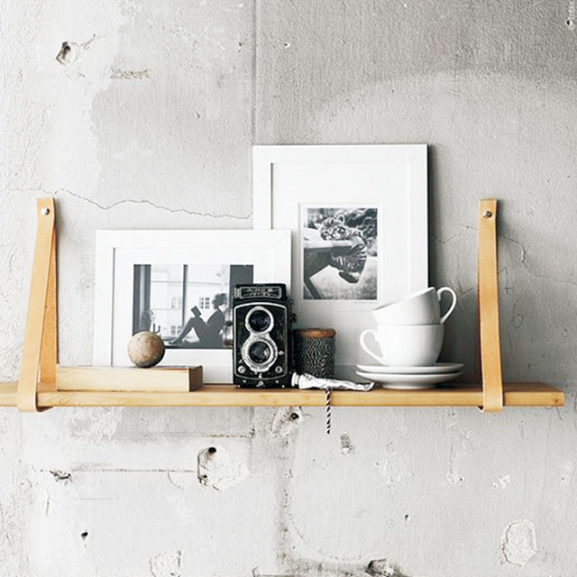 Nordic Wall Mounted Shelf Bookcase Bookshelf Holder Wood Magazine Modern Design Hanging Racks For Corridor Rails