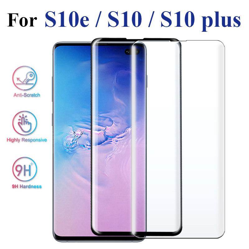 3D Screen Protector For <font><b>Samsung</b></font> Galaxy S10 Glass For <font><b>Samsung</b></font> S10 lite s <font><b>10e</b></font> s10 plus edge cover on s 10 light plus glas image