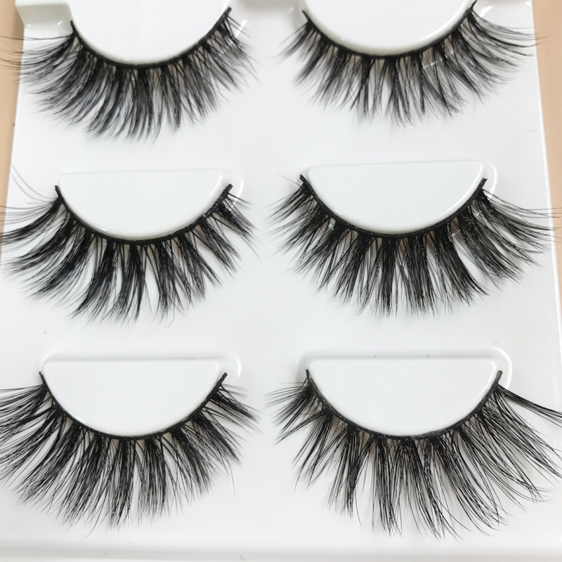 Beauty Essentials Ladies Sexy 3d Stereo Long Eyelash Women Handmade Fashion Natural Black False Eyelashes Beauty Eyes Extension Makeup Tools Pure White And Translucent Beauty & Health