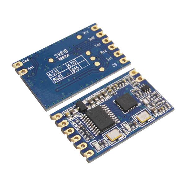 Transmisor inalámbrico y el Módulo Receptor RF (SV610 + SU108-TTL + ZT28 Antena) en 433 MHz TTL Interfaz