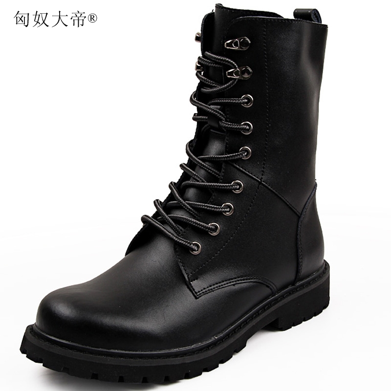 215f109463 ENPLEI high quality leather boots high cut shoe Men's outdoor hiking ...