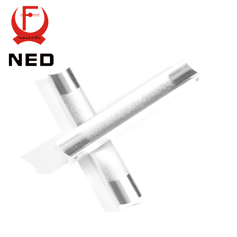 NED 96MM Aluminum Handles Kitchen Door Cupboard Modern Wardrobe Handle Drawer Pulls Cabinets Knobs With Screw Furniture Hardware