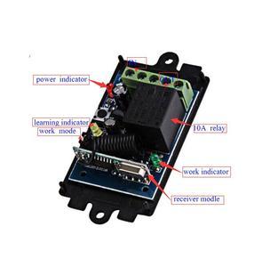 Image 2 - 범용 dc 12 v 1 channal 무선 원격 제어 315 mhz/433 mhz 수신기 릴레이 수신기 모듈 빛