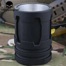 EmersonGear Tactical Flash Hider Suppressor Styled Shot Glass Battle Mug Aluminum beverage Cup Compact Field Drinking Device