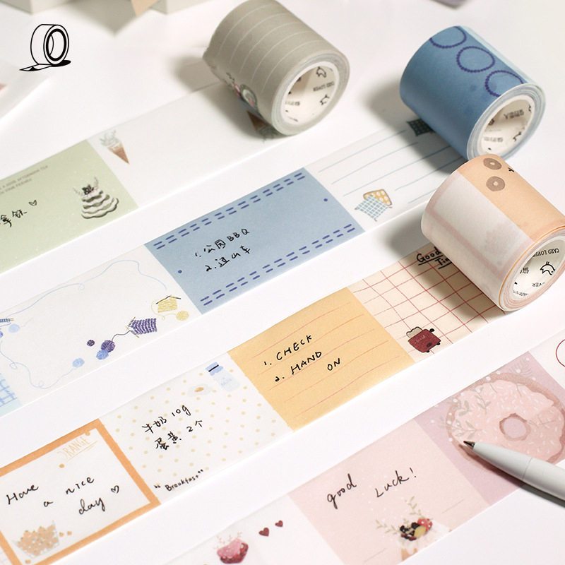 40mm Creative Kawaii Masking Washi Tape For DIY Decorative Adhesive Tape Memo Pad Stickers Scrapbooking Bullet Journal Supplies