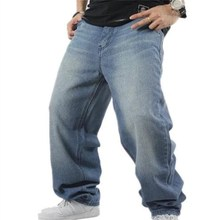 Shierxi男ゆるいジーンズヒップホップスケートボードのジーンズバギーパンツデニムパンツヒップホップ男性広告ラップジーンズ4季節ビッグサイズ30 46