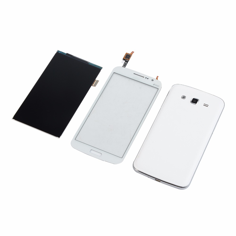 For Samsung Galaxy Grand 2 II Duos G7102 G7106 LCD Display Touch Screen Digitizer+Housing Middle frame Battery Back Cover