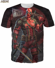 Funny Superhero Deadpool 3D Full Print Short Sleeve T Shirts for Women and Men Casual WTF Letter Print Tee Plus Size M-2XL