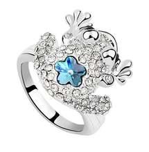 Кольцо с кристаллами Сваровски для мужчин и женщин модное элегантное