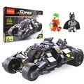 2016 Nova 325 pcs Building Blocks Super Heróis Carros Batman Coringa Minifigures Tijolos Brinquedo Educatinal