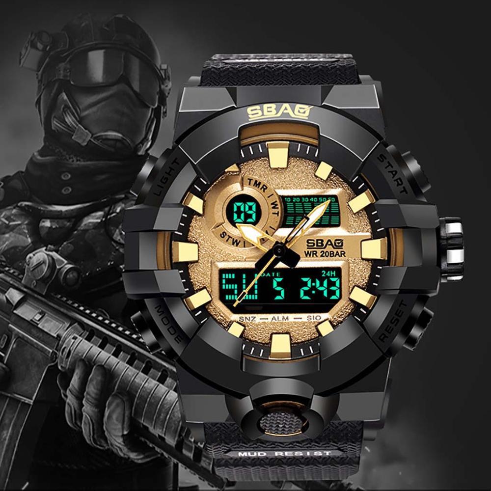 Sports Watch Men Student Military Movement Waterproof Digital Wrist Clock Automatic Electronic Ftness Watches Relogio masculino Sports Watches     -