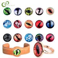 50Pcs/lot Glass Doll Eye Making DIY Crafts For Toy Dinosaur Animal Eyes Accessories 10mm/15mm/20mm GYH(China)