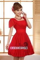 Summer Dress Vestido De Festa Free Shipping Brides Short Design Bridesmaid Dresses 2015 Party Prom Gown