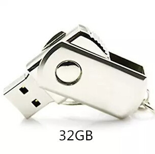 Hot sale ! Waterproof Metal Silver usb flash drive pen drive 4GB/8GB/16GB  pendrive with key ring u disk memory disk usb 2.0