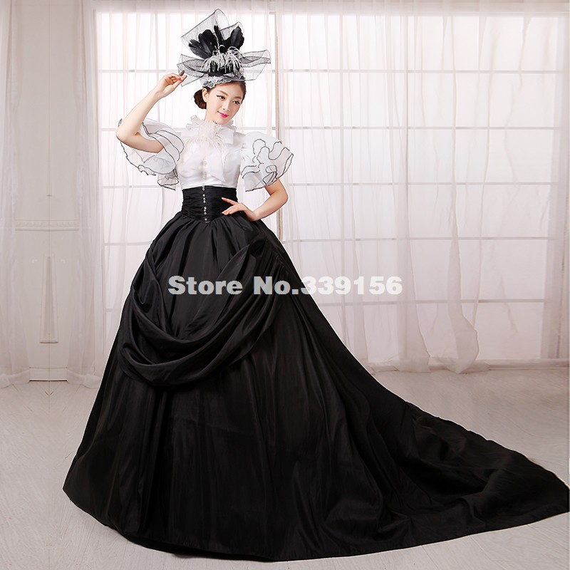 bfac0695ea6 Best Seller Black And White Gothic Punk Ball Gown Medieval Renaissance  Marie Antoinette Rococo Dress Gown Costumes Vestidos