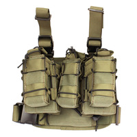 ROCOTACTICAL Tactical Drop Leg Rig with Detachable Double Mag Pouch & 1 Single Mag Pouch
