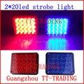 40 LED motocicleta Luzes estroboscópicas luzes de Advertência Da Polícia luz estroboscópica Emergência DC 12 V AZUL VERMELHO