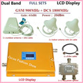 LCD Display GSM 900mhz DCS 1800mhz Dual Band Booster GSM 4G Mobile Phone Signal Repeater GSM Cellular signal Amplifier +Antennas