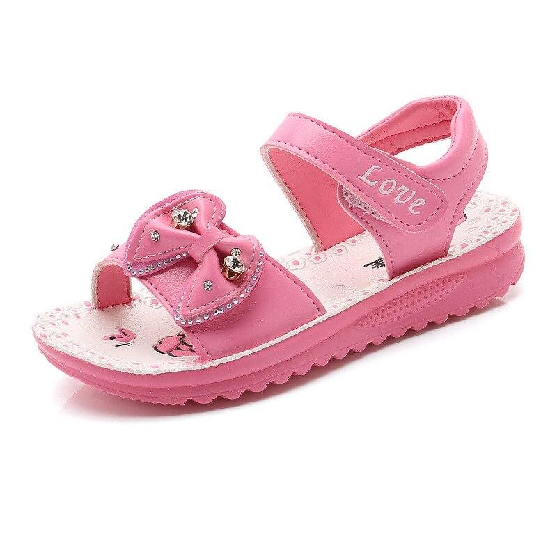 Leren sandalen meisjes 2018 Nieuwe prinsessen Mooie bloemen strand - Kinderschoenen - Foto 2
