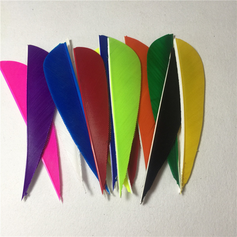 50Pcs 3 Inch Water Drop Turkey Feather 12 Colour High Quality Real Feather Arrow Feathers Vanes Archery Arrows