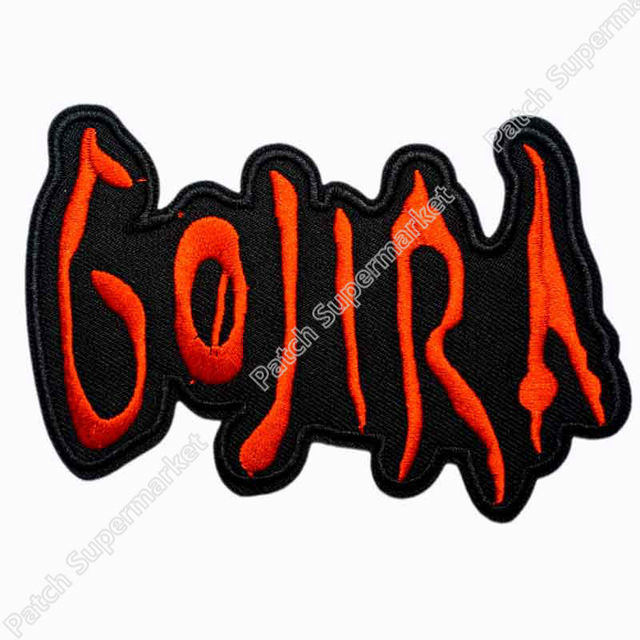 4 4 gojira rockabilly music band logo embroidered new iron on and rh aliexpress com Heavy Metal Battle Jacket Heavy Metal Patch Store