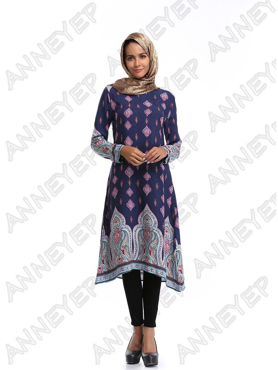 Flower printe abaya kleid für frauen maxi islamischen kleider dubai ...