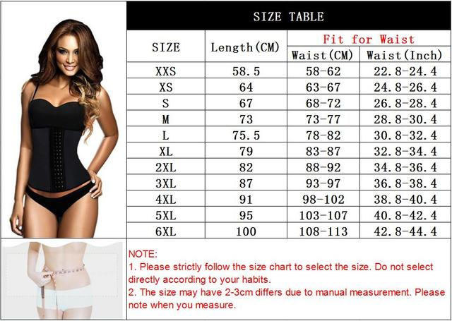 Latex Waist Trainer Corset 9 Steel Bone Shapewear Body Shapers Women Corset Slimming Belt Waist Shaper Cinta Modeladora 5