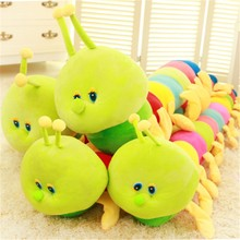 Retail 1 piece 50cm Baby Toys Colorful Caterpillars Millennium Bug Doll Plush Toys Kids Large Caterpillar Hold Pillow Doll toys(China)
