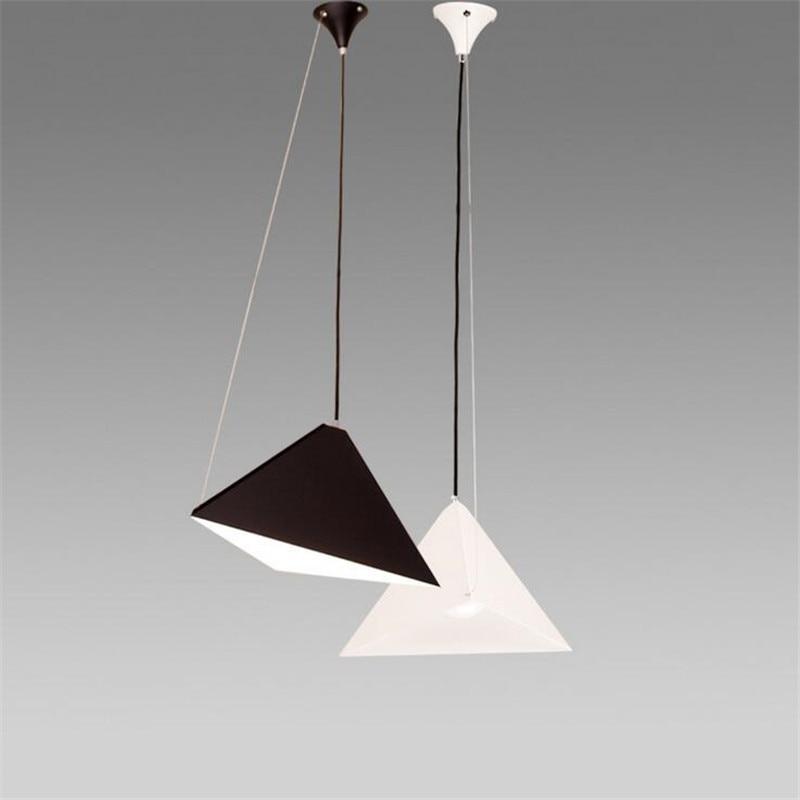 Minimalist Modern Pendant Light Triangle Art Design Adjustable Bookstore Cafe Bar Hang Lamp Industrial Light LED Indoor Lustre поло print bar triangle